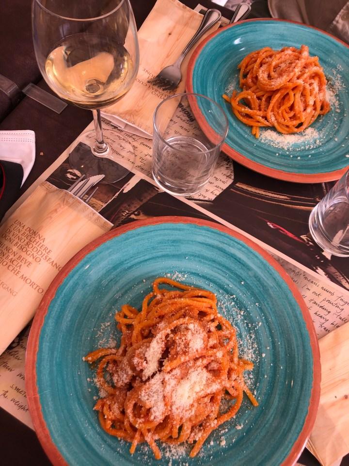 Spaghetti a l'amatriciana