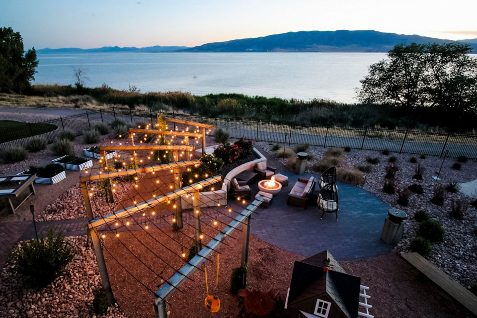 Utah Lakeside Backyard
