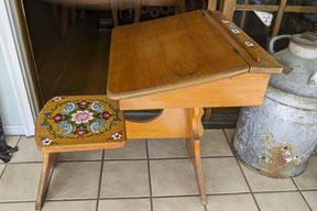 Finished restoration on antique desk