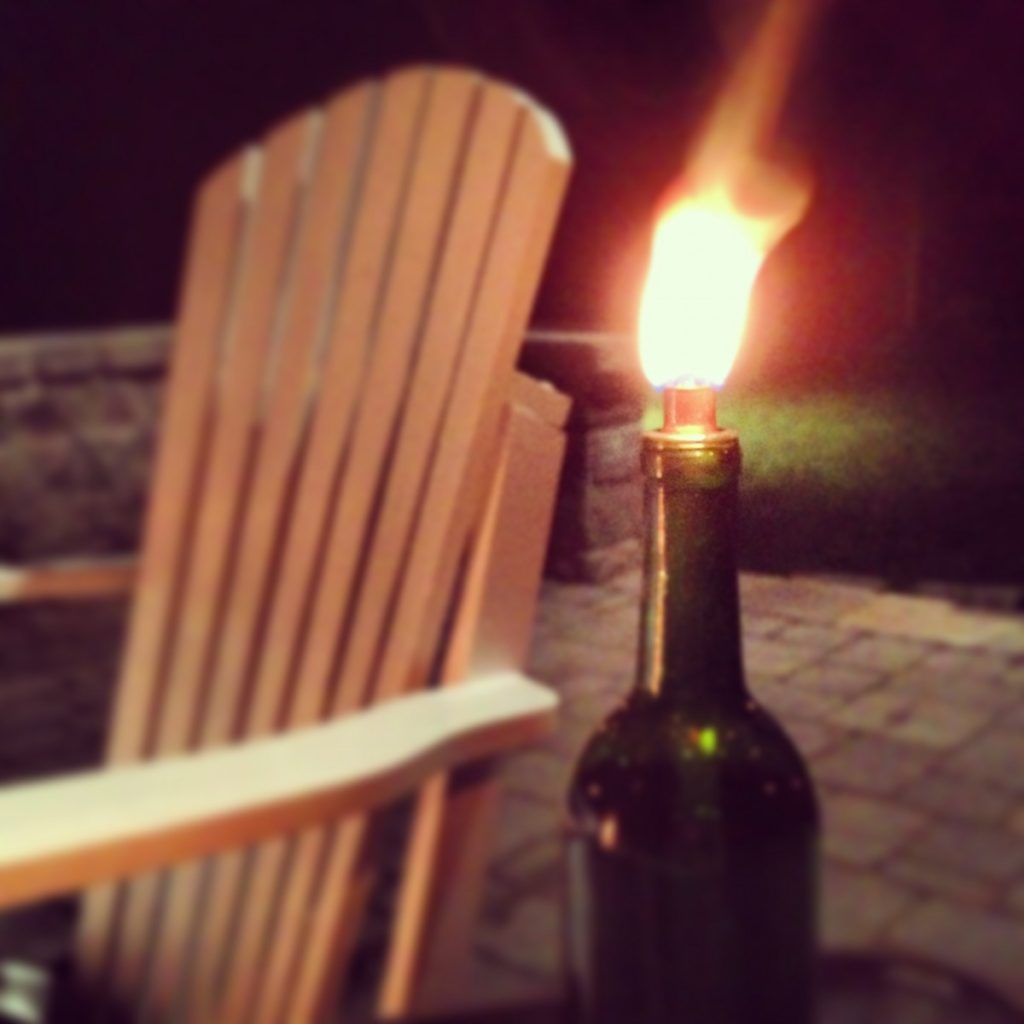 Wine Bottle Citronella Candles