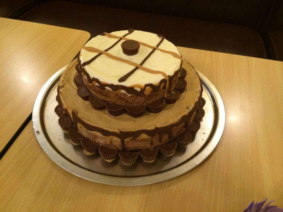 Brian: I was all over this Reeses Ice Cream Cake at the baby shower.