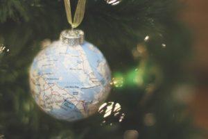 DIY Map Ornaments
