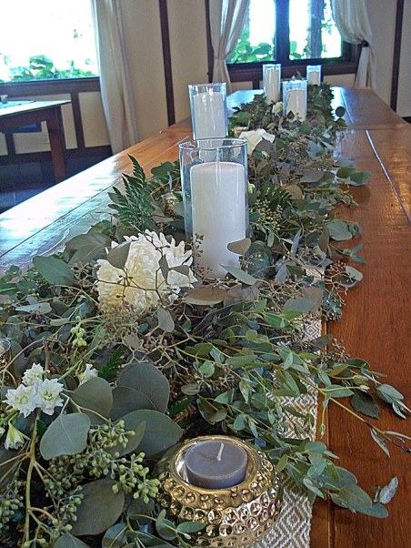 Table Accents with Greens
