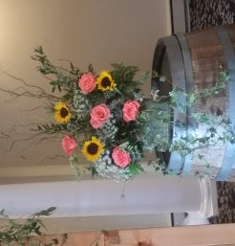 Sunflower Rose Aisle Piece