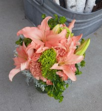 Coral Lily Bouquet