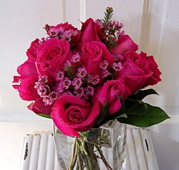 Fresh Fuschia Rose Bouquet
