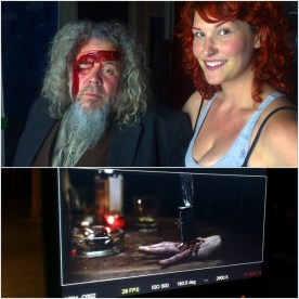 Mark Boone Jr. with a bullet wound