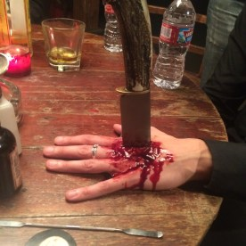 Stabbed hand