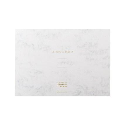 bloc-a-dessin-a4-154-feuilles-amovibles-marbre-blanc