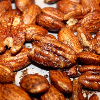 Vanilla Cardamom Roasted Almonds and Pecans