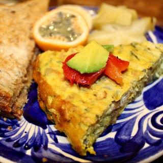 Vegan Zucchini Mushroom Frittata