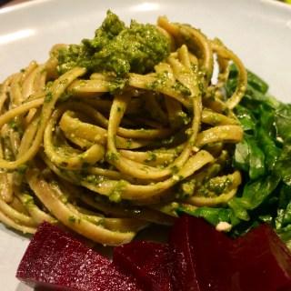 Vegan Basil Spinach Pesto Linguine