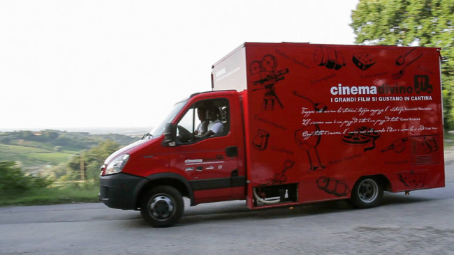 cinemadivino food truck