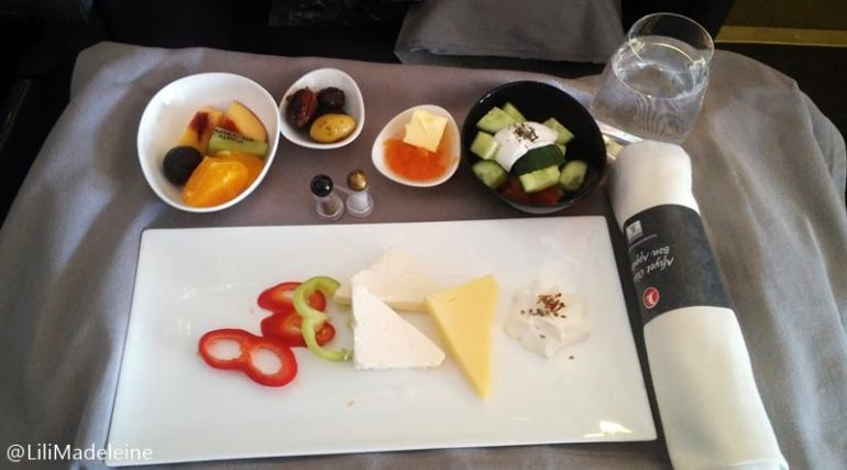Turkish Airlines catering colazione