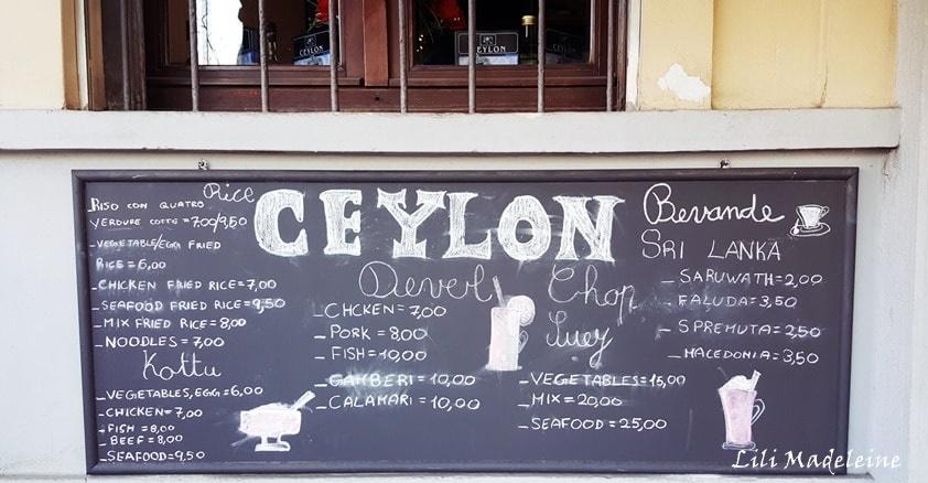 Ceylon Il Ristorante Dello Sri Lanka In Piazza Firenze A Milano