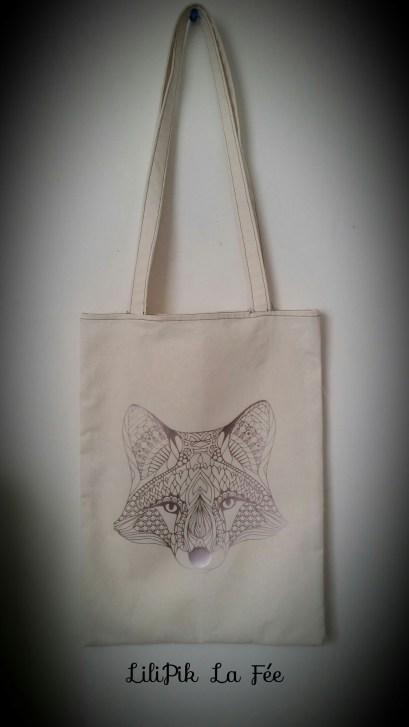 tote bag tête de loup by LiliPik La Fée