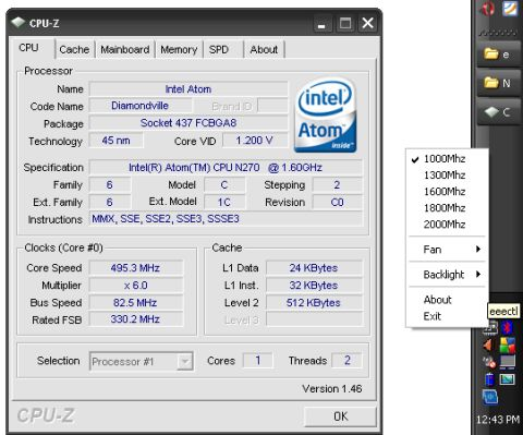 How to adjust your Eee PC 901/1000 CPU speed to 1Ghz or 2Ghz