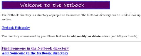 Netboo.com as seen in 1997