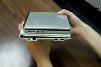 Top: Albatron netbook / Bottom: Samsung NC10