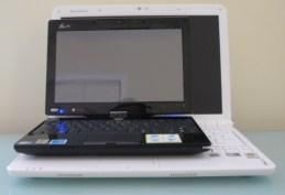 Bottom: IdeaPad S12 / Top: Eee PC T91
