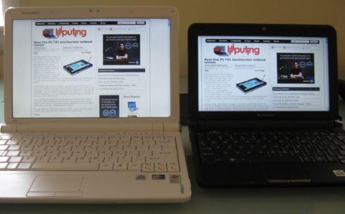 Left: IdeaPad S12 / Right: IdeaPad S10-2