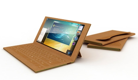 recycled paper laptop