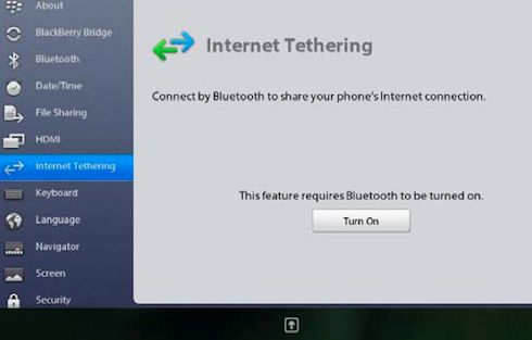 You can tether a BlackBerry PlayBook to any phone, not just