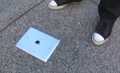 iPad 2 on concrete