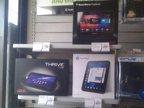 HP TouchPad at Radio Shack