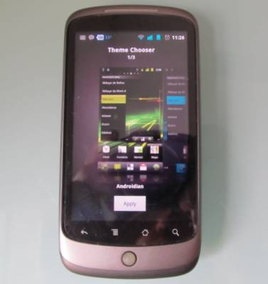 Google Nexus One with CyanogenMod 7.1