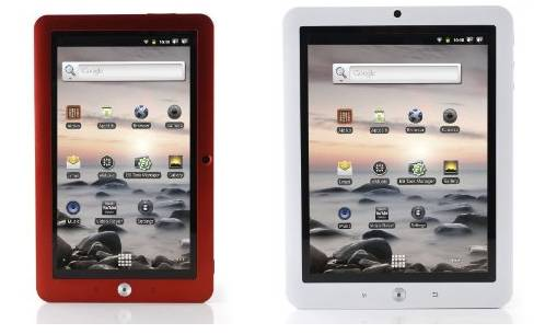 Coby Kyros tablets (white and red)