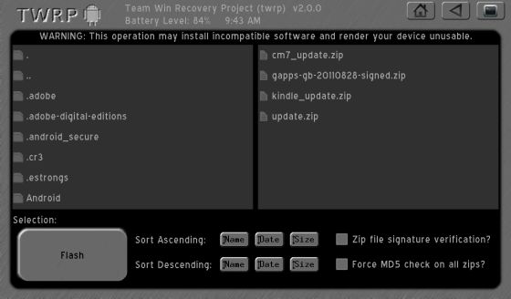 How to install TWRP 2 0 touch-based recovery on the Kindle Fire