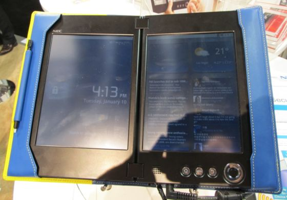 NEC Coud Communicator dual-screen tablet