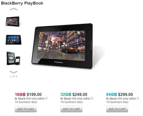 BlackBerry PlayBook for $199