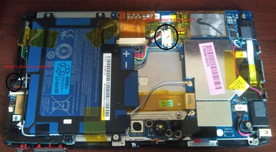 Acer Iconia A100 dissected