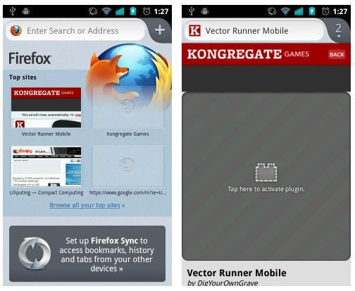 Firefox 14 beta for Android: Native UI, Adobe Flash support - Liliputing