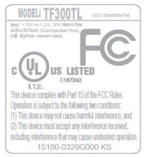Asus Transformer Pad TF300TL
