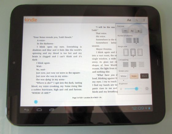 Amazon Kindle for Android (HP TouchPad)