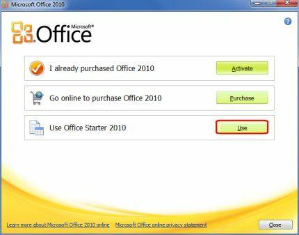 Microsoft Office 2010 Starter