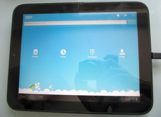 HP TouchPad with Skype (mic fix)