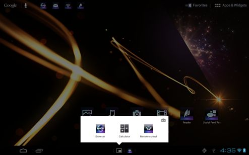 Sony Tablet P Android 4.0 small apps