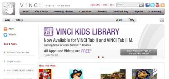VINCI Kids Library