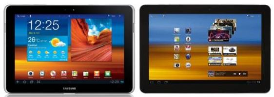 iPad and Galaxy Tab 10.1n