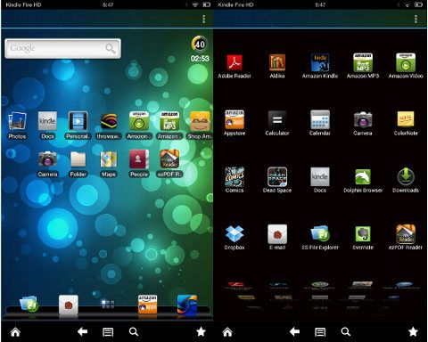 adw launcher ex on the kindle fire hd