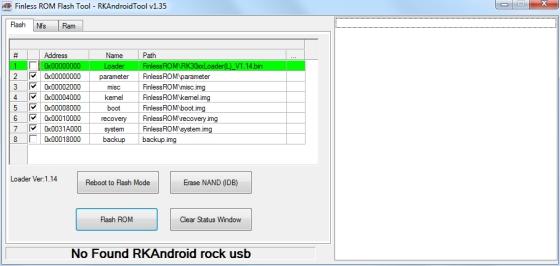 Finless ROM flash installer