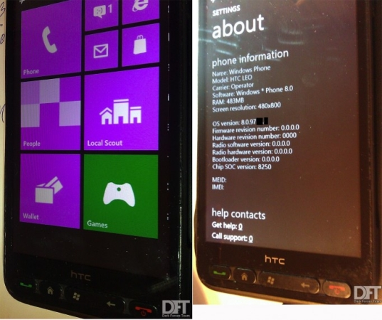 HTC HD2 Windows Phone 8