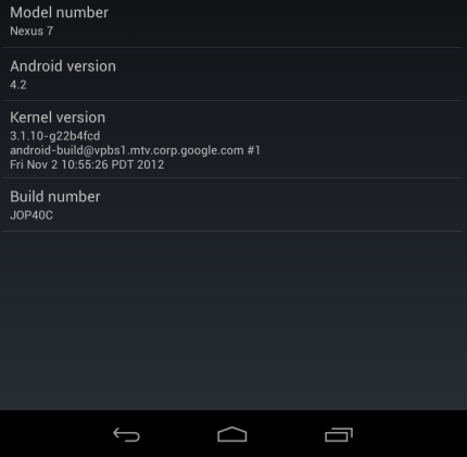Google Nexus 7 with Android 4.2