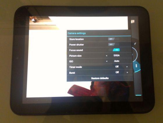 HP TouchPad with working camera