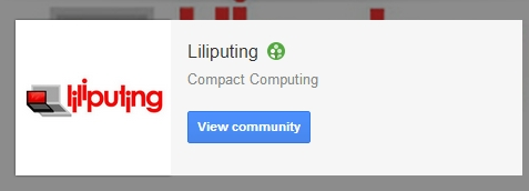 Liliputing community on Google+