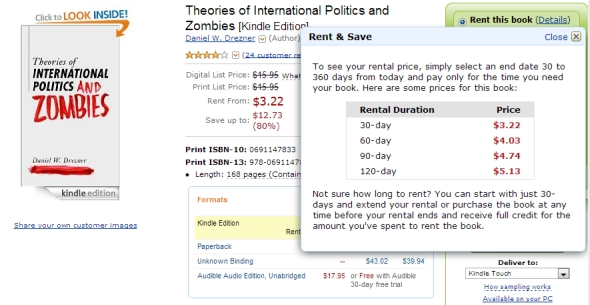 Amazon Kindle Rental